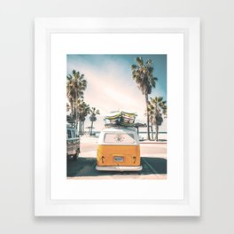 Surf Van Venice Beach California Framed Art Print