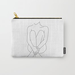 Nude figure line drawing - Mimi Carry-All Pouch