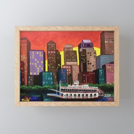 Sunset Over Memphis Framed Mini Art Print