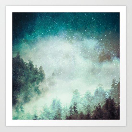 Galaxy Forest Art Print