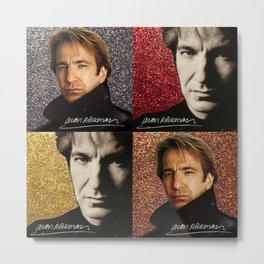 Alan Rickman actor Metal Print