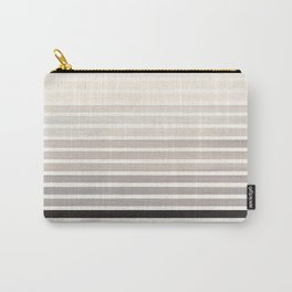 Watercolor Gouache Mid Century Modern Minimalist Colorful Grey Stripes Carry-All Pouch