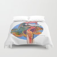 zodiac Duvet Covers featuring ZODIAC Aquarius by CASTELBARCO DESIGN