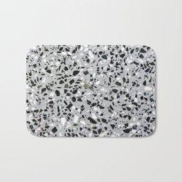 Concrete terrazzo marble texture speckle pattern gray Bath Mat
