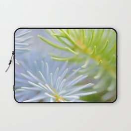 Two fir branches close-up shot Laptop Sleeve