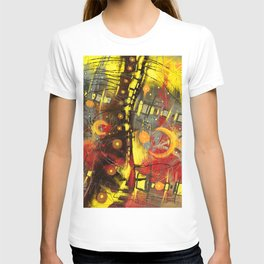 Night jazz digital colorful abstract painting T-shirt