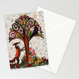 fox and crow Stationery Cards