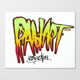 Raad Art Logotype Canvas Print
