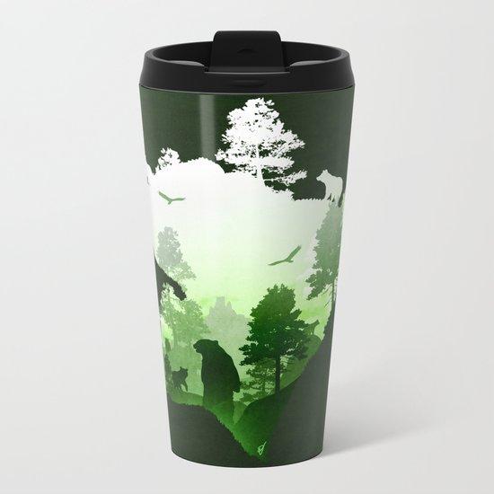 Green Bears Metal Travel Mug