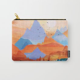 Sunrise Over the Fall Mountain Peaks Carry-All Pouch