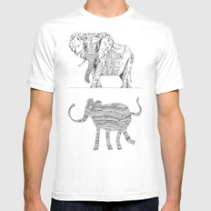 two ways to see one elephant White Mens Fitted Tee MEDIUM