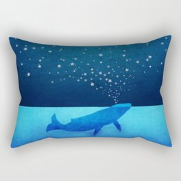 Whale Spouting Stars - Magical & Surreal Rectangular Pillow