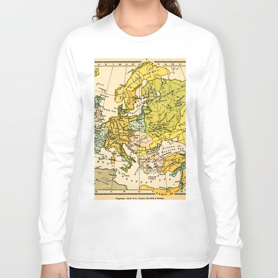 Europe in 1135 - Vintage Map Collection Long Sleeve T-shirt