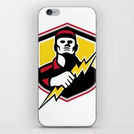 Electrician Thunderbolt Crest Mascot iPhone Skin