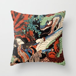 Ukiyo-e, Dragon Throw Pillow
