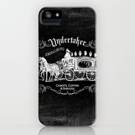 Gothic Undertaker iPhone Case