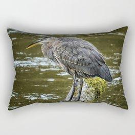Rainy Day Heron Rectangular Pillow