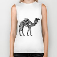 camel Biker Tanks featuring Camel by Sophie H.