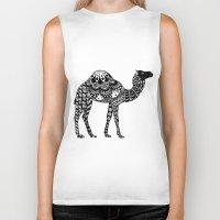 camel Biker Tanks featuring Camel by Sophie H.