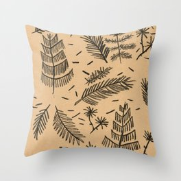 Kraft Paper Pine Throw Pillow