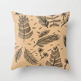 Kraft Paper Pine Throw Pillow