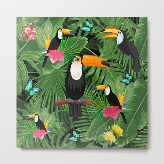 Toucan tropic Metal Print