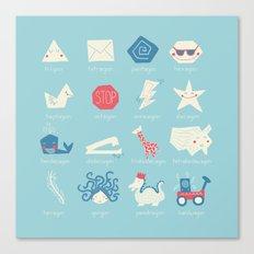 Geometry Cheat Sheet Canvas Print