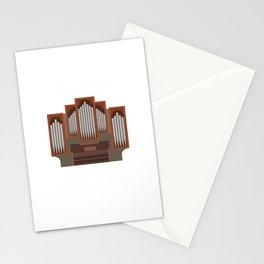 Organist Orgelspieler Lustiger Kirchen Spruch Stationery Cards