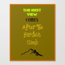 Inspirational Motivating Hiking Quote Typography Canvas Print
