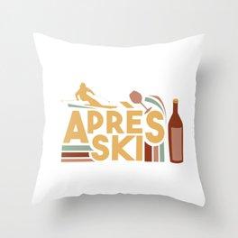 Apres Ski Ultra Vintage Style Throw Pillow