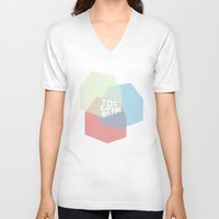 community V-neck T-shirts featuring Community by Scott Erickson