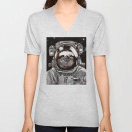 Astronaut Sloth Selfie Unisex V-Neck