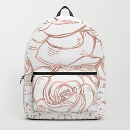 Mandala Lunar Rose Gold Backpack