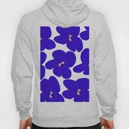 Blue Retro Flowers #decor #society6 #buyart Hoody