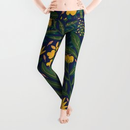 Golden flowers Leggings