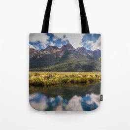 Mirror Lake Fiordland National Park Tote Bag