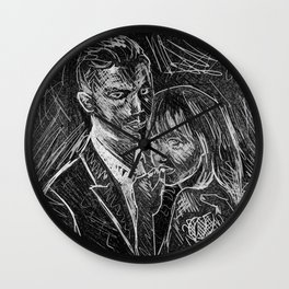 """Mr. Grey Will See You Now"" by Kristin Frenzel Wall Clock"