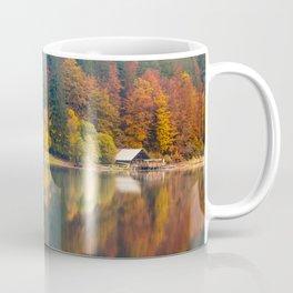Autumn foliage at the alpine lake Coffee Mug