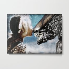 Alien Kiss Metal Print