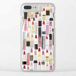 Lipsticks Makeup Collection Illustration Clear iPhone Case