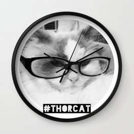 Hipster Thor Cat Wall Clock