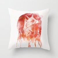 mars Throw Pillows featuring Mars by Robert Farkas