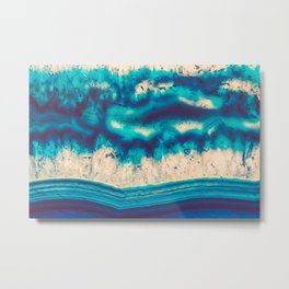 Blue Agate Water Element Metal Print