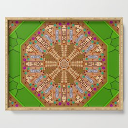 sweet crackers with chocolate mandala Serving Tray