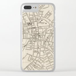Vintage Map of Spartanburg SC (1918) Clear iPhone Case