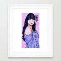 blanket Framed Art Prints featuring Blanket by Margret Stewart