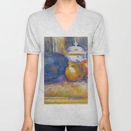 "Paul Cezanne ""Still-Life with a Watermelon and Pomegranates"" Unisex V-Neck"