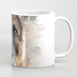 Baron the German Shepherd Neutral Watercolor Coffee Mug