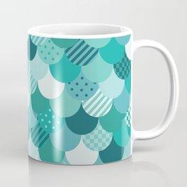 Mermaid Quilt in Aqua Coffee Mug