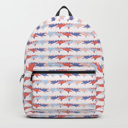Memphis Style Geometric Stripes Seamless Pattern Backpack